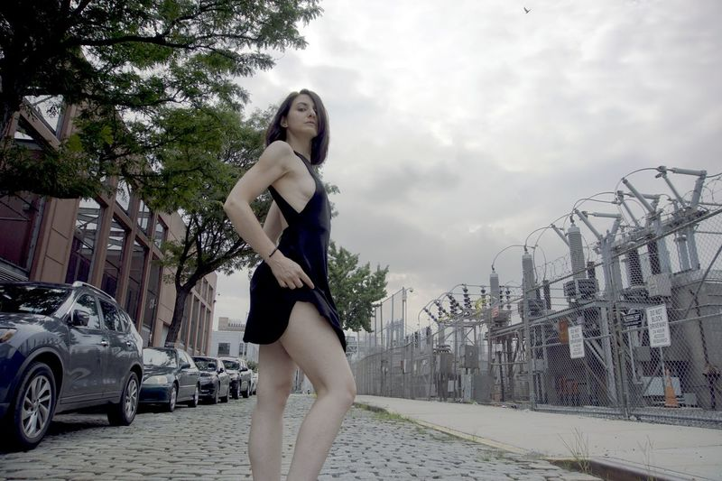 Vinegar Hill Body & Fitness City Dress Elegant Fashion NYC Beautiful Woman Beauty Cloud - Sky Day Fit Full Length Legs Lifestyles Model One Person Outdoors Posing Real People Standing Street Summer Urban Young Adult Young Women The Week On EyeEm