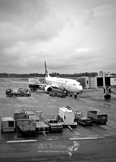 B&W Portrait Airplane Airport