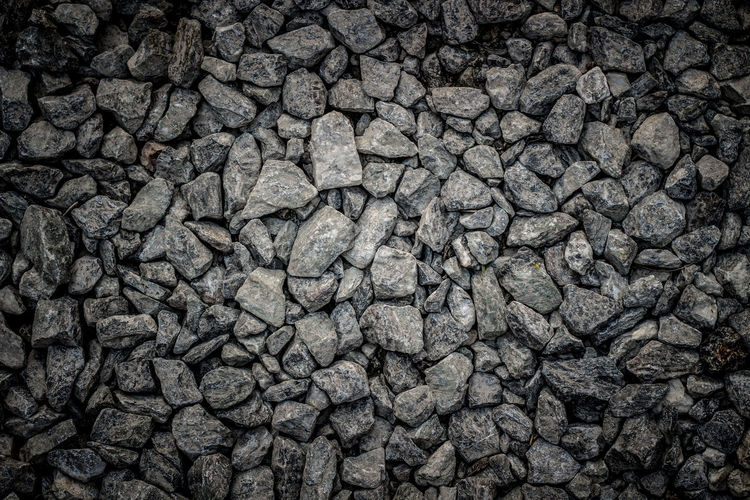 Stone floor Backgrounds Full Frame Day Gravel Outdoors Close-up Solid High Angle View No People Nature Geology Transportation Textured Effect Dirt Construction Industry Road Textured  Gray Pattern Rough Rock