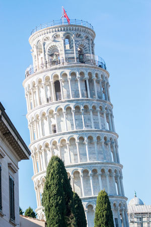 Architecture City Flag Galileo Low Angle View Marble No People Pisa Tower Tourism Travel Travel Destinations Adventures In The City
