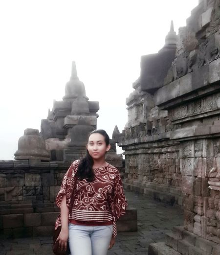 Proud wearing Batik Amazing Indonesia Amazing Architecture Borobudur Temple, Indonesia 7 Wonders Of The World