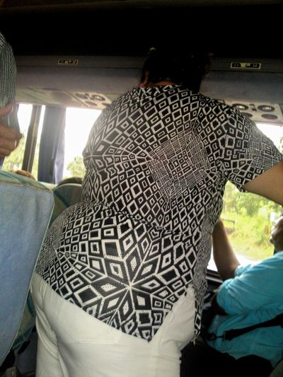 50 Shades Of Grey Design San Jose, Costa Rica Female Abstract Bus Standing Room Only On The Bus Black And White Hypnosis Shades Of Grey