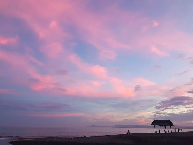 Architecture Beach Beauty In Nature Built Structure Cloud - Sky Day Horizon Over Water Nature No People Outdoors Scenics Sea Silhouette Sky Sunset Tranquil Scene Tranquility Water