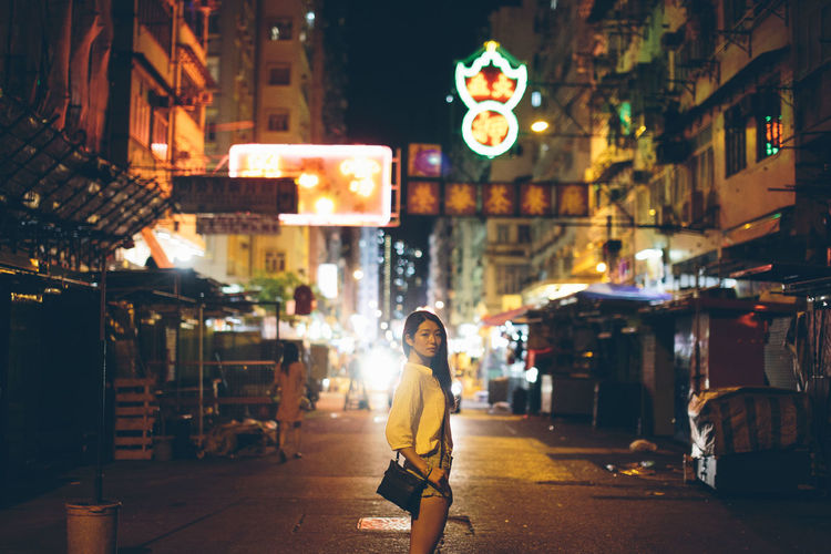 Night Street Light Architecture Casual Clothing Chinese City Life City Street Emotion Girl Illuminated Leisure Activity Lifestyles Looking At Camera Model Night Outdoors Portrait Portrait Of A Woman Portrait Photography Portraits Sigma Store Street Street Photography Streetphotography Style The Way Forward