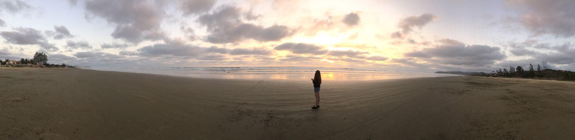 Beach Panoramic Sea Water Horizon Over Water Shore Sunset Beauty In Nature