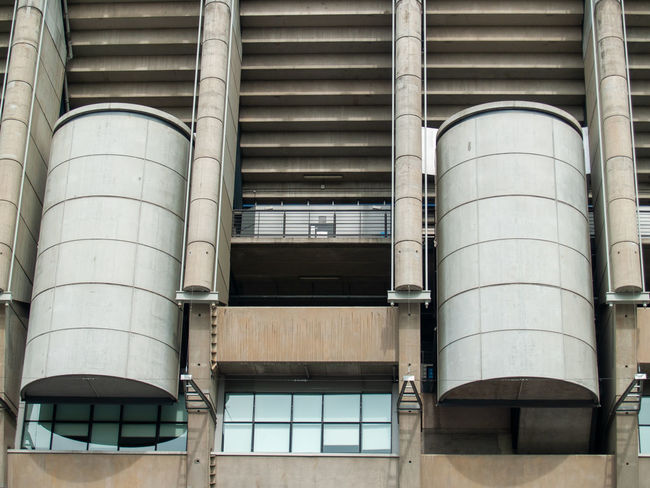 Architecture EyeEm Best Shots EyeEmNewHere Football Geometric Architecture Santiago Bernabéu Stadium Sport In The City Stadium Teamwork Urban Lifestyle Air Duct Architectural Column Architectural Feature Architecture Building Building Exterior Built Structure City Day Factory First Eyeem Photo Full Frame Geometric Abstraction Glass - Material Industrial Building  Industry Lifestyles Low Angle View Metal No People Outdoors Pattern Pipe - Tube Santiago Bernabeu Silver Colored Sport Sport Building Still Life Storage Tank Team Team Sport Window