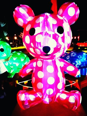Teddy Bear Lanternfestival Polka Dots  Teddybear Teddy Bears TeddyBears Moon Lantern Festival Pink And White Festivalphotography Inflatable  Inflatables Festivals Elder Park City Of Adelaide Nightphotography Night Photography CityOfAdelaide Spots Spots And Markings Dots And Spots Dots Pink&white Pink And White Combination White&pink Animal Representation