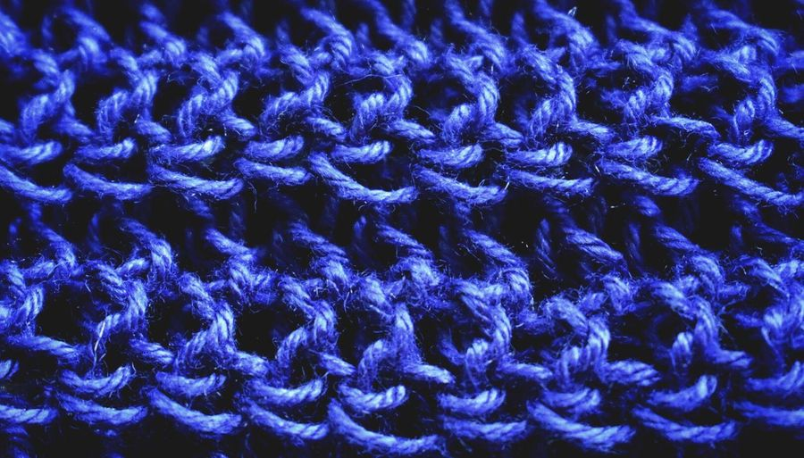 Backgrounds Blue Pattern Close-up No People Indoors  Day Nikon_photography Threads Blue Color Crochet Crocheting Hobbies Blue Wool Close Up Photography Live For The Story