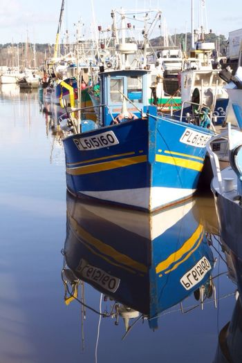 Port de Paimpol Boat Brittany Paimpol Reflection Fishboat Colorful
