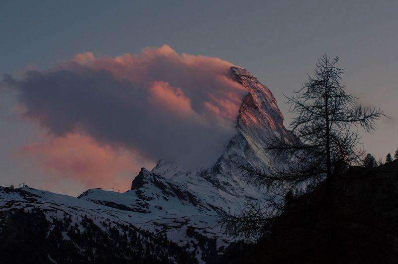 Matterhorn in red Scenics Matterhorn  Mountain Wallis Switzerland Sunset Sunset Mountain Silhouette Mountain Power In Nature Outdoors No People Nature