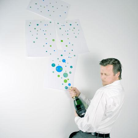 Champagne Champion Gewinner Jubiläum Sieger Business Finance And Industry Businessman Feiern Open Sekt Sucsess