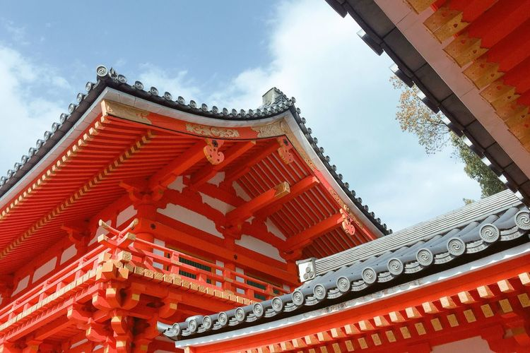 Art Is Everywhere Architecture Built Structure Building Exterior Cloud - Sky Red Travel Destinations Nature Colors Art Japan