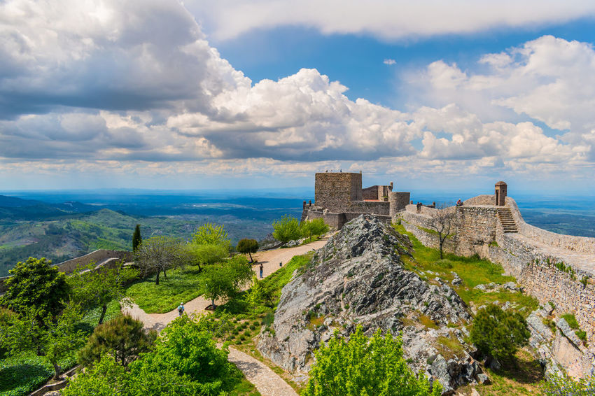 castelo de Marvão Ancient Ancient Civilization Archaeology Architecture Beauty In Nature Building Building Exterior Built Structure Cloud - Sky Day Environment History Landscape Mountain Nature No People Outdoors Plant Scenics - Nature Sky The Past Travel Destinations Water