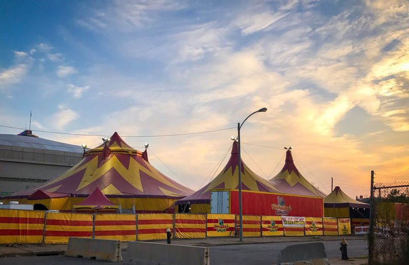 Sky Built Structure Architecture Cloud - Sky Outdoors Building Exterior No People Day Sunset Multi Colored Nature City Circus