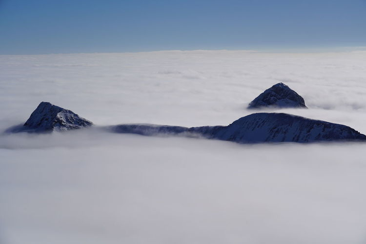 Scenic view of mountain and cloudscape