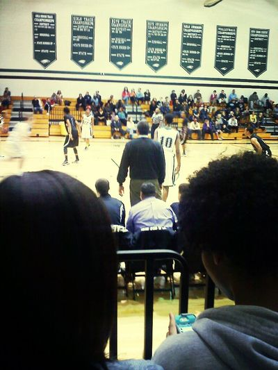 at bball game