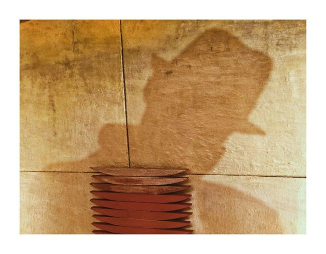 Voie intérieure Shadow Shadow Artist Arts Culture And Entertainment Brown No People Transfer Print Textured  Backgrounds Close-up Wood - Material Built Structure