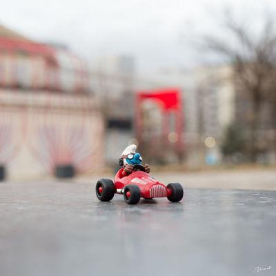 Vroom Schtroumpf Smurf Motorsport Voiture Retro Toys Schleich Schlumpf Pitufo