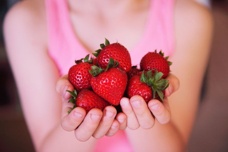 Child Holding Strawberries Berry Berry Fruit Boy Children Close-up Colorful Colors Focus On Foreground Food Food And Drink Freshness Fruit Girl Hands Healthy Eating Holding Juicy One Person Person Pink Red Red Ripe Strawberry Summer Fresh On Market April 2016