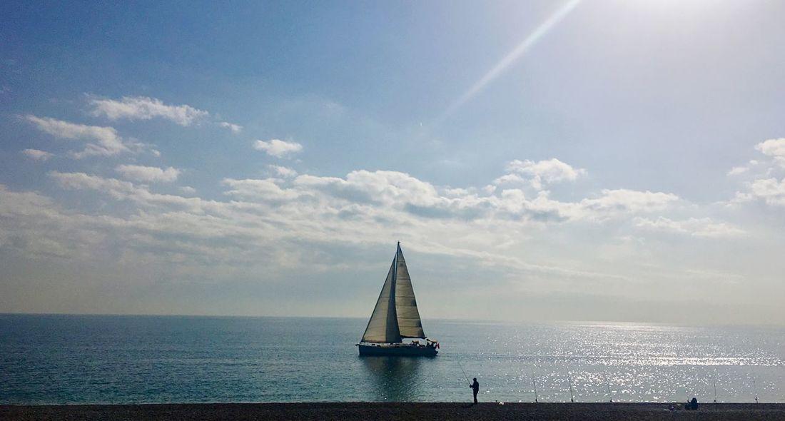 pleasant lunch break - Fsn® Sailing Lunchbreak Sky Sea Cloud - Sky Horizon Over Water Water Scenics Day