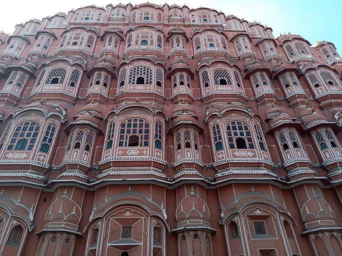Low angle view of hawa mahal jaipur