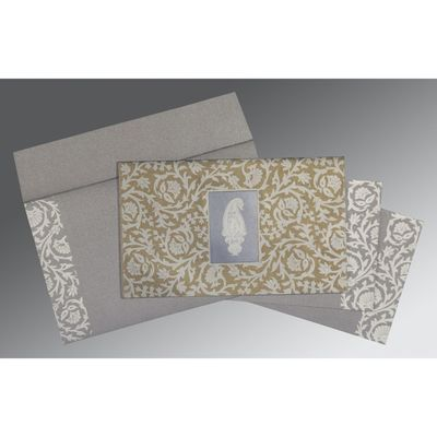 Black Screen Printed Wedding Invitations : IN-1371   123WeddingCards Wedding Wedding Cards Design Gift Invitation Pattern Wedding Invitations Wedding Party