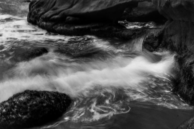 i need to this better Water Rock - Object No People Sea Nature Beauty In Nature Wave Beach Outdoors Less Edit Juxt Photography Blackandwhite Blackandwhite Photography