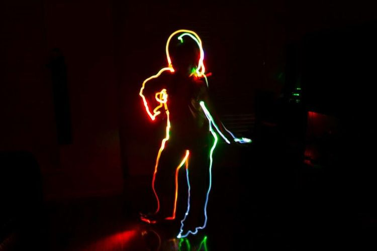 Picturing Individuality Light And Shadow Lightpainting Lightpaintingphotography Colors Kid Nightphotography Torches Attitude