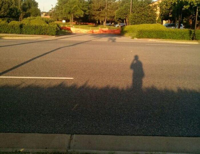 Days gone past. Shadow Hampton Virginia Shadows & Lights Shadow Photography Shadows And Sunlight Road Marking Dividing Line Asphalt Empty Road