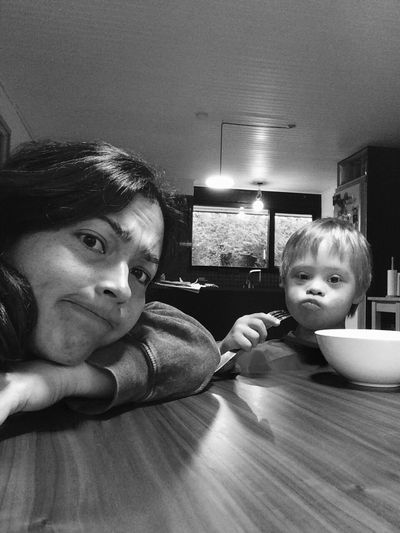 A simple portrait of a daily activity in black and white The Purist (no Edit, No Filter) EyeEm Best Shots - Black + White EyeEm Portraits Portrait Breakfast Table Moments Mom Blackandwhite Black & White Perspective Gestures Uniqueness Uniqueness Uniqueness Shades Of Grey