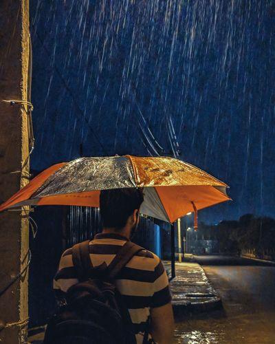 Water Low Section Under Summer Protection Men Sky RainDrop Umbrella Rainfall Monsoon Rain Wet