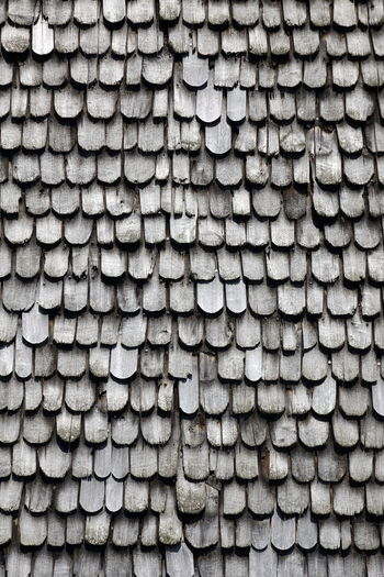 Schindeln Weathered Backgrounds Biberschwanz Close-up Day Full Frame Holzschindeln No People Outdoors Pattern Shingles Stack Textured  Wood - Material Wooden
