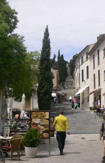 Streetphotography Steps Majorca Pollença