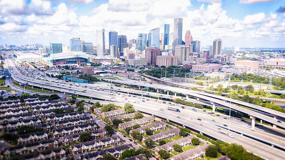 Houston, the most diverse city in America. Aerial View Houston Texas Architecture Building Exterior Built Structure City City Life Cityscape Cloud - Sky Day Development Downtown District Land Vehicle Mode Of Transport Modern Motion No People Sky Skyscraper Street Transportation Travel Destinations Urban Skyline Hurricane Harvey