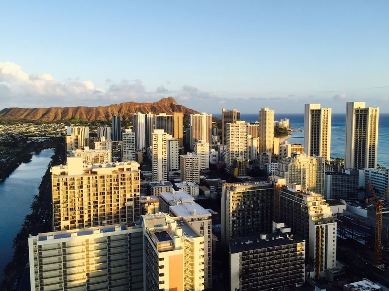 Hawaii Sunset Skyscrapers Cityscapes Taking Photos Eye4photography  Enjoying Life Traveling Nature Honululu