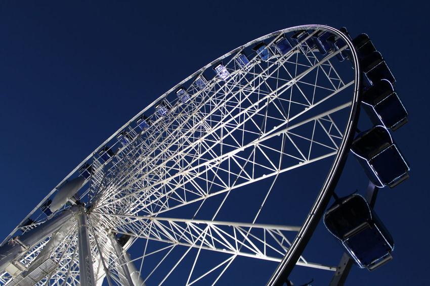 Cranger Kirmes  Herne  Kirmes Riesenrad Ruhrgebiet Ruhrpott Big Wheel Blue Clear Sky Ferris Wheel Light And Shadow Low Angle View Night No People Sky Wanne Eickel