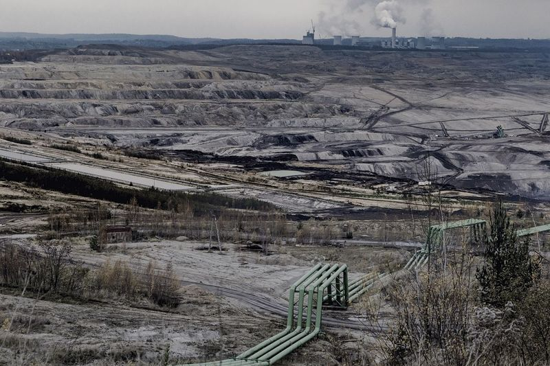 Turow Coal Mines Air Pollution Coal Mine Global Warming Coal Mine Day Ecology Ecology Problem Environmental Issues Fuel And Power Generation Industry Landscape Mine Mining Nature No People Opencast Mine Outdoors Physical Geography Power Station Road Scenics