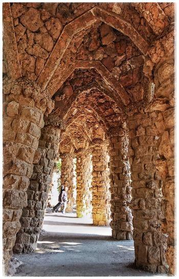 Columns And Stone Parkguell Barcelona Barcelonalove Antoni Gaudí Antonigaudi