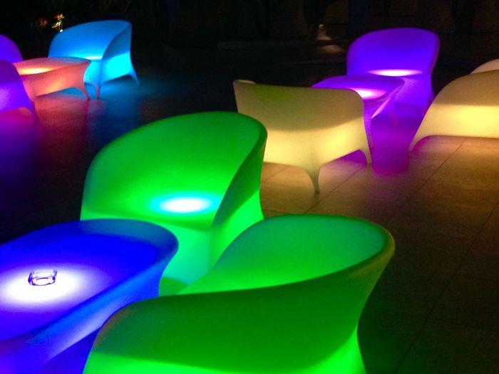 Lumières Couleurs Design Meuble Sièges flashy Colorfull