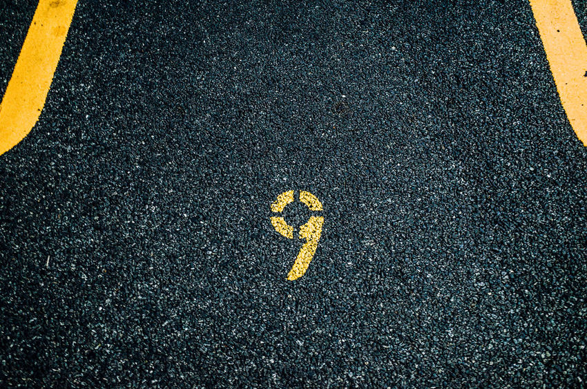 9 Numbers Asphalt Day Enjoying Life EyeEm Best Shots EyeEm Gallery Getting Inspired Guidance High Angle View Minimalism Minimalobsession No People Outdoors Road Road Marking Road Sign Simplicity Street Yellow Learn & Shoot: Simplicity Learn & Shoot: Balancing Elements Streetphotography EyeEm Selects TakeoverContrast Paint The Town Yellow