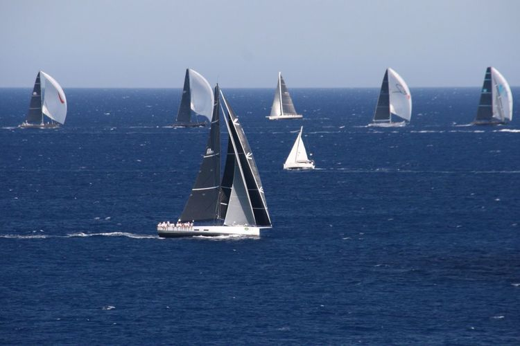 Sea Water Sailboat Nautical Vessel Sailing Transportation Day Nature Horizon Over Water Outdoors Blue No People Sky Scenics Mast Rolexcup Regatta Regata Portocervo Caladivolpe Sardegna