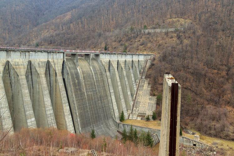View of dam on bridge