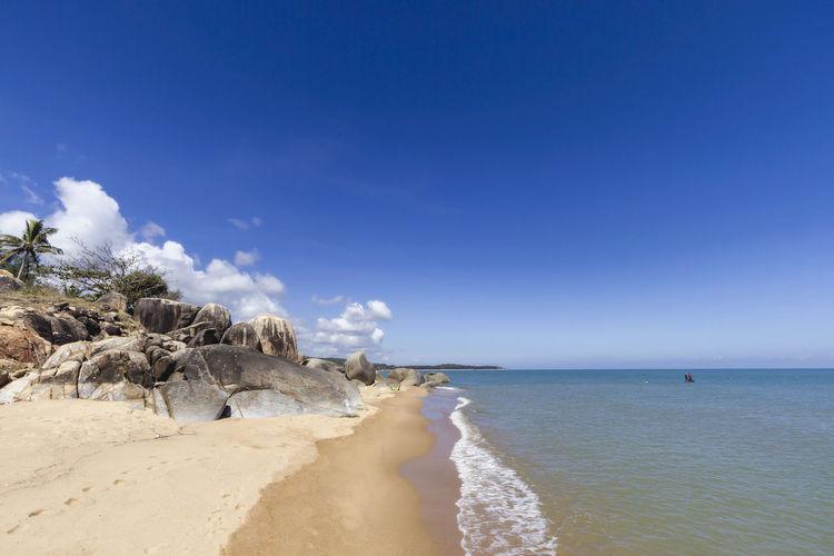 Kheakhea beach the sea in panare district pattani, thailand.