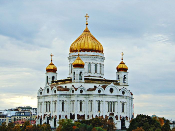 ХрамХристаСпасителя храм Церковь Москва купола