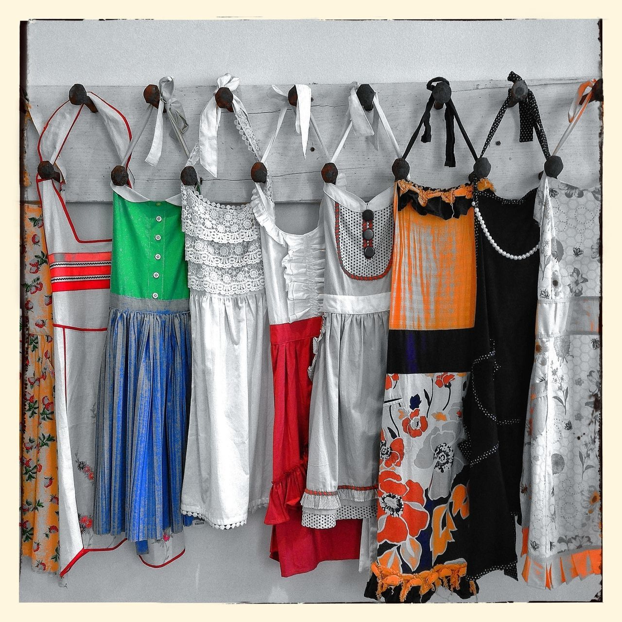hanging, variation, coathanger, clothing, no people, multi colored, fashion, choice, indoors, large group of objects, day