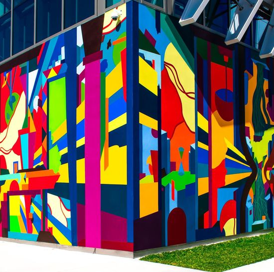 Miami street art Multi Colored Day Built Structure No People Architecture Creativity Sunlight Graffiti Outdoors Side By Side Communication Decoration In A Row Nature Building Exterior Wall - Building Feature Art And Craft Text Blue Pattern