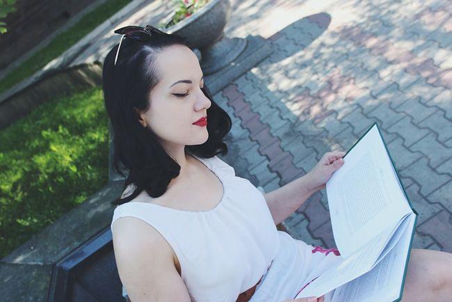 My sweet Snow White ❤️ Enjoying Life Girl Russian Girl Portrait Portrait Of A Woman Beautiful Enjoy Russia Women Female Model Book Read Reading