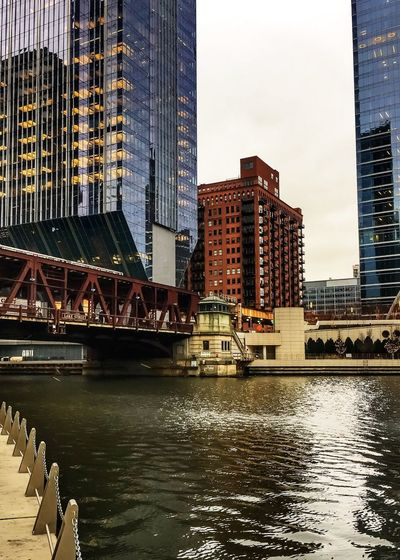 Chicago River seen from riverwalk as train passes over on an elevated track. Building Exterior Building River View Riverside Reflection Metropolis Urban El Train Chicago El Elevated Train Elevated Track Elevated Road Downtown Chicago Riverwalk Chicago River Chicago Loop Architecture Built Structure Building Exterior Skyscraper River City Modern Water Day Travel Destinations Waterfront Bridge - Man Made Structure Outdoors Cityscape