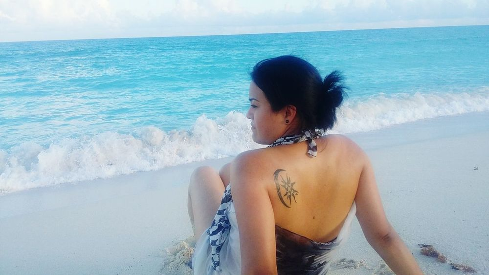 Relaxing Enjoying Life That's Me Just Me Beautiful Nature Happyday Blue Sea FreeTime Water Hello World Summer Views Summermemories Tattoomodels Sun And Moon Togheter Tattoedgirl The Essence Of Summer
