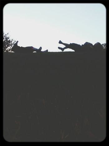 Everyday Lives rollin down the hill Atxkids Brother & Sister Silhouette